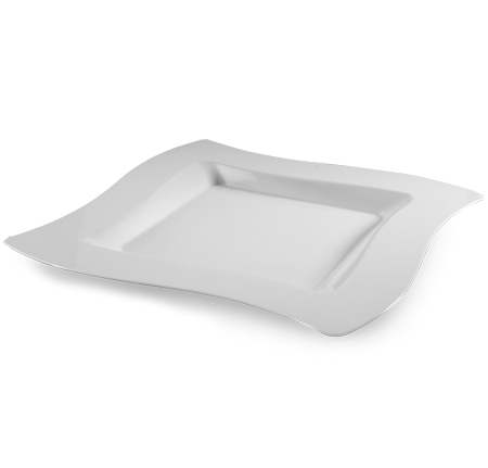 10.75\u2033 Wavetrends Square-Wave Disposable Dinner Plates White (FL-110-WH)  sc 1 st  Save On Party Goods & 10.75\u2033 Wavetrends Square-Wave Disposable Dinner Plates White (FL-110 ...