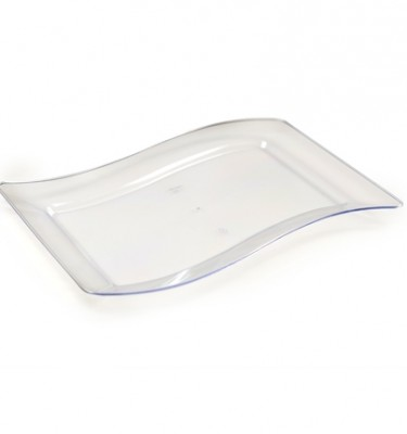 10u2033 X 15.75u2033 Rectangular Disposable Luncheon Plates Clear (FL-1410-CL)  sc 1 st  Save On Party Goods & Clear Plastic Plates | Save On Party Goods