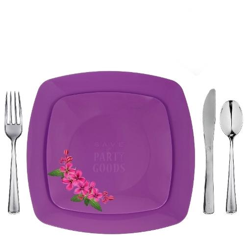 \u201cPurple\u201d Renaissance Collection Elegant Plastic Dinnerware Package  sc 1 st  Save On Party Goods & Purple\u201d Renaissance Collection Elegant Plastic Dinnerware Package ...