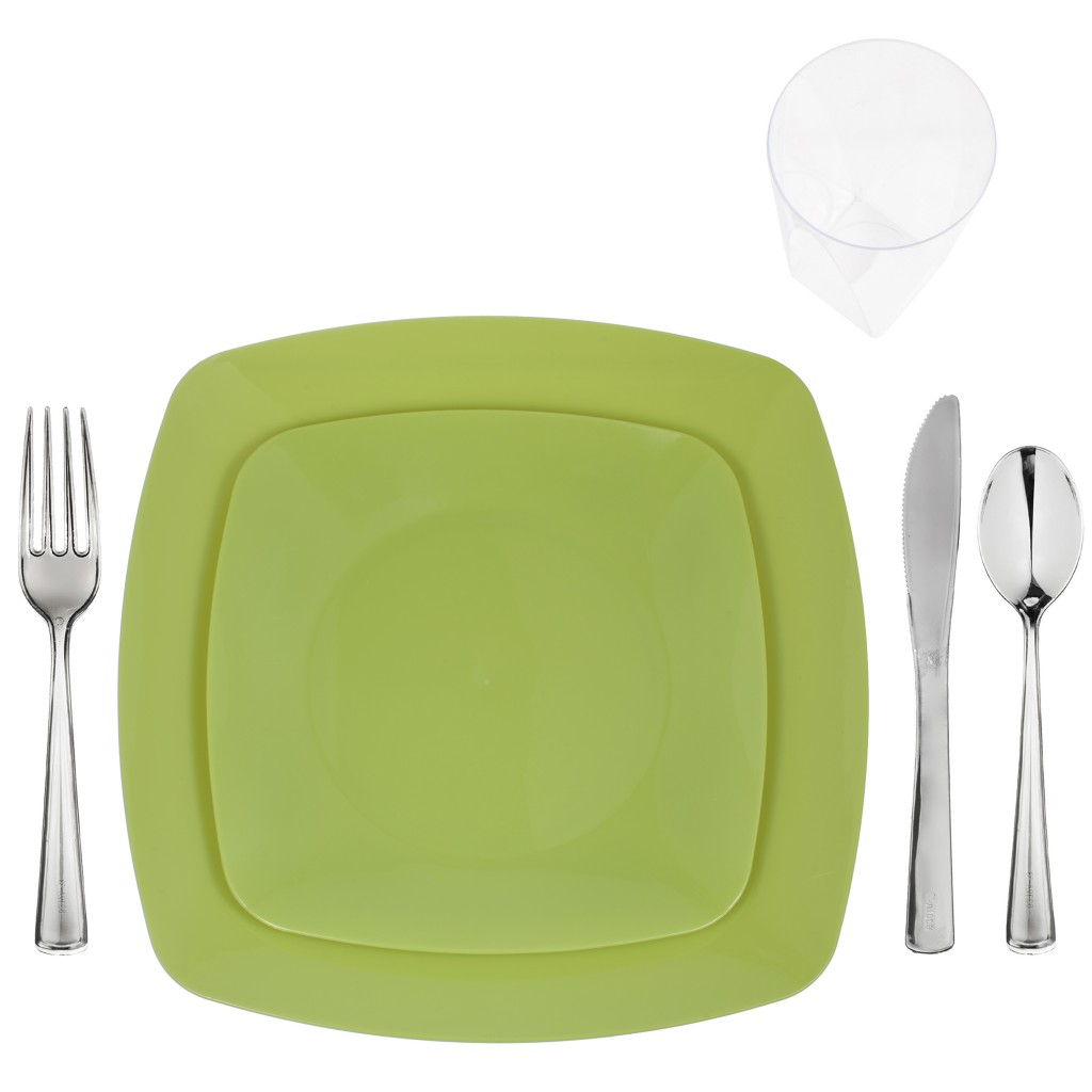 u201cOlive Greenu201d Renaissance Collection Elegant Plastic Dinnerware Package | Save On Party Goods  sc 1 st  Save On Party Goods & Olive Greenu201d Renaissance Collection Elegant Plastic Dinnerware ...