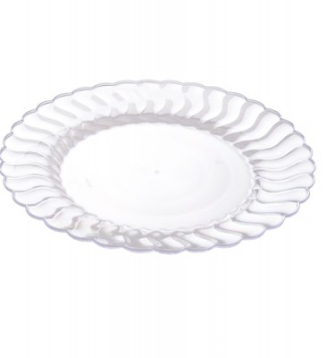 10.25u2033 Dinner Plates Clear Flairware Fluted Design (FL-210-CL)  sc 1 st  Save On Party Goods : clear plastic tableware - pezcame.com